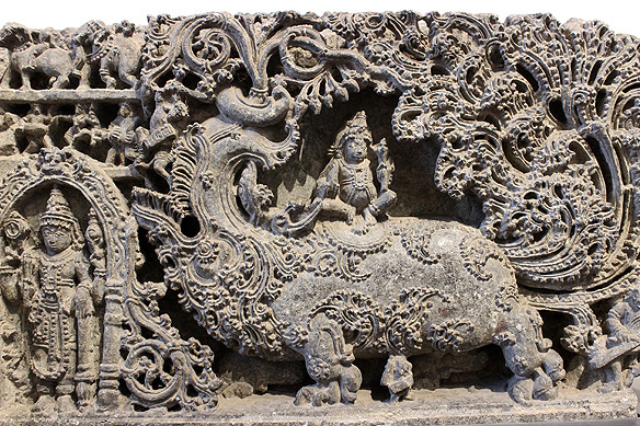 An intricate filigreed Venu Gopala, just another one of the Museum's prized treasures, this time from South India (12th Century, Halebidu, Karnataka, Granite)