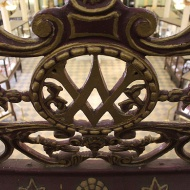 Monogram of Victoria and Albert on the wrought iron railings: Testimony to the original name.