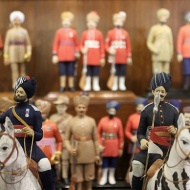 The British East India Company started training Indian soldiers who served under the British command, not only in India, but also on foreign territory as early as 1790. Soldiers from a particular area were often grouped together, commanded by officers of their own region and allowed to wear their own native headdresses.