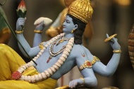 One of my favourite pieces: Shesha Shayi Vishnu shows Vishnu reclining on shesha, the serpent, in a creative mood.