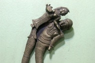 Erotic nut-crackers: Brass and silver; Maharashtra, Gujarat, and South India; 18th – 19th Century.