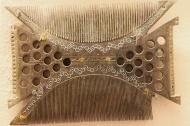 Wooden comb: Maharashtra and South India; 19th Century.