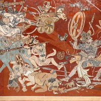 the mythological frescoes of nandalal bose in vadodara