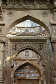 Detail, east porch, Jami Masjid. Isn't it beautiful?