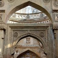 Detail, east porch, Jami Masjid. Isn't it beautiful?