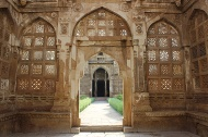 The east porch of the Jami Masjid is a visual treat with its intricate carvings and perforated stone screen work.