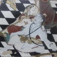 Sadhu enjoying drinks; miniature painting on paper; Maharao Madho Singh Museum.
