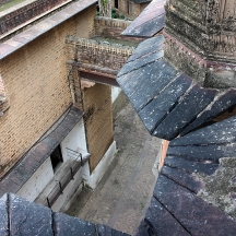 Looking down over centuries' old roofs and lanes inside the palace complex.