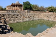 The Sun Temple at Modhera was built by Bhimadeva I, a Chalukya [Solanki] king in 1016 – 1027 AD.