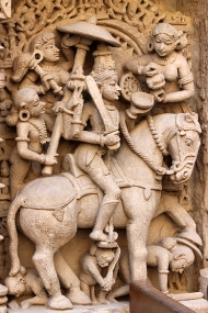 Kalki, the future incarnation of Vishnu. One he is yet to assume, wherein as a warrior king he will destroy all evil forces.