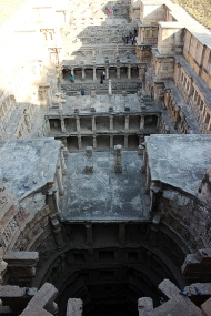 It is only when one looks down at the well from the western end, that the scale of the inverted temple really sinks in. Note: Leave this view for the end of your visit!