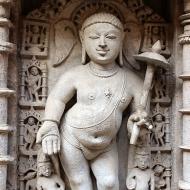 Vamana, another of Vishnu's incarnations. This time a plump, celibate student.