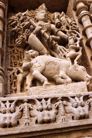 Durga Mahishasuramardini, the 20-armed form of Shiva's consort Parvati, killing the buffalo demon. Her legend, filled with symbolism, is a key part of Hindu mythology, particularly Shaktism.
