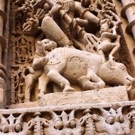 Durga Mahishasuramardini, the 20-armed form of Shiva's consort Parvati, killing the buffalo demon. Her legend, filled with symbolism, is a key part of Hindu mythology, particularly Shaktism.