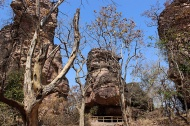 Entrance to the Bhimbetka rock shelters complex.