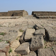 Apart from the dock, the other most outstanding structure in Lothal was its warehouse. A massive edifice with a series of platforms, it was built near the dock and the ruler's mansion, indicating the active role of the ruler in Lothal's trade.