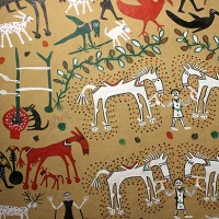 india travel shot: pithora painting, the art of ritual in tribal madhya pradesh