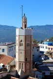 The 15th Century Grand Mosque, identified by its unusual octagonal tower, was built by Chefchaouen's founder Moulay Ali Ben Rachid's son.