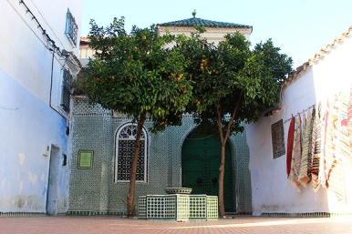 One of the earliest shrines in the Medina. Check out the citrus trees in the courtyard—a typical Andalusian feature.