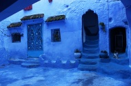 Every month Chefchaouen's ladies paint the walls and streets outside their homes blue.