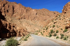 The 40-kilometre long Gorge is carved out of the mineral-rich mountains of the High Atlas.