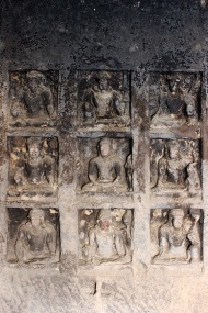 Cave 12, known as Tin Taal, is one of the most spectacular caves at Ellora. A Vajrayana Buddhist monastery, it is decorated profusely with tantric gods and goddesses, and mandalas.