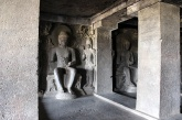 Wherever I turned, I saw Buddhas on the 2nd floor of the three-storeyed Tin Taal. The cave's richly adorned inside is a stark contrast to its plain exterior.