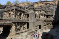 Kailasha Temple [Cave 16]: Ellora's centre-piece, both in terms of location and as its greatest achievement.