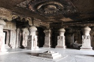 Indra Sabha translates to Indra's public meeting. Indra is a key deity across Hinduism, Buddhism, and Jainism. In Jainism he is believed to be the king of the highest heaven.