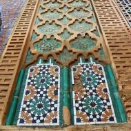 Stunning zellige decorates Bab el-Khemis Gate.