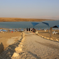 Kalia Beach on the northern shores of the Dead Sea. Sun, sea and clay.