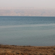 The Dead Sea is losing one meter in depth every year. It has shrunk to almost half its size from 1930 when it covered 1,050 sq. km. Today it is just 605 sq. km in area.