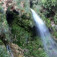 Ein Gedi's centre of attraction: David Waterfall.