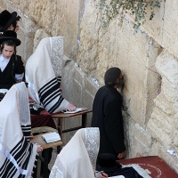 global travel shot: uninterrupted prayers at the wailing wall