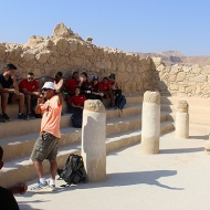 Past and present in the Synagogue used by the Sicarii rebels. The Masada story is part of every Israeli schoolchild's education.