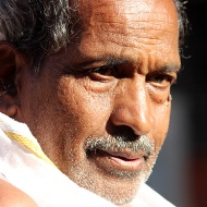 Portrait, priest of Gommateshwara Temple.