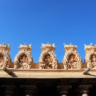 Don't forget to look up. Deities in niches perched on the gallery roof.