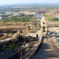 Pavilion containing the finely carved Tyagada Brahmadeva Pillar installed by Chavundaraya.